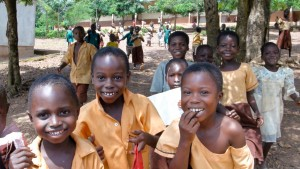 Children going to school in Ghana