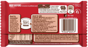 Kitkat back of pack