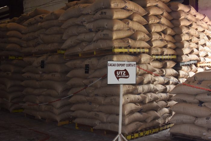 Warehouse UTZ cocoa in Cote d'Ivoire