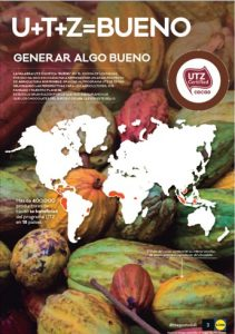 Lidl Spain consumer leaflet about their UTZ certified cocoa