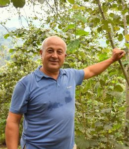 Turkish hazelnut farmer Özer Akbaşlı