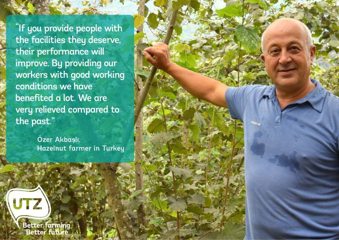 Quote from UTZ certified hazelnut farmer Özer Akbaşlı from Turkey