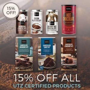 Promotion visual NOMU FB campaign - 15% off UTZ labeled products