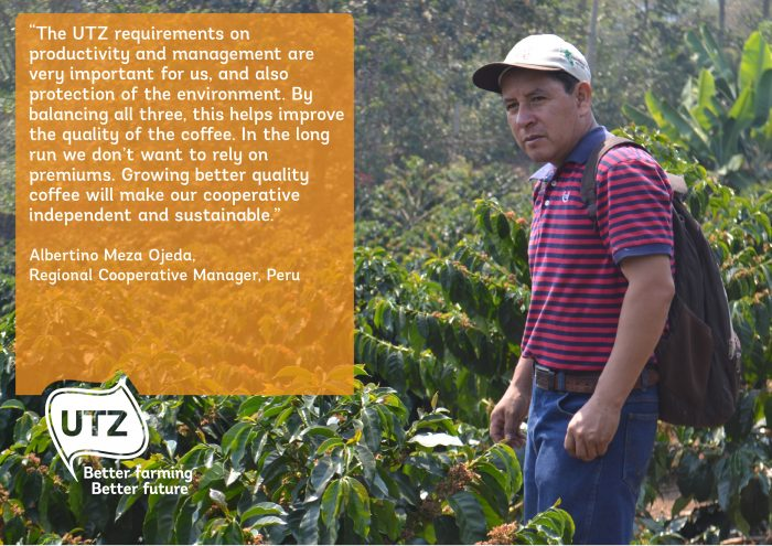 Quote from Regional Cooperative Manager Albertino Meza Ojeda from Peru