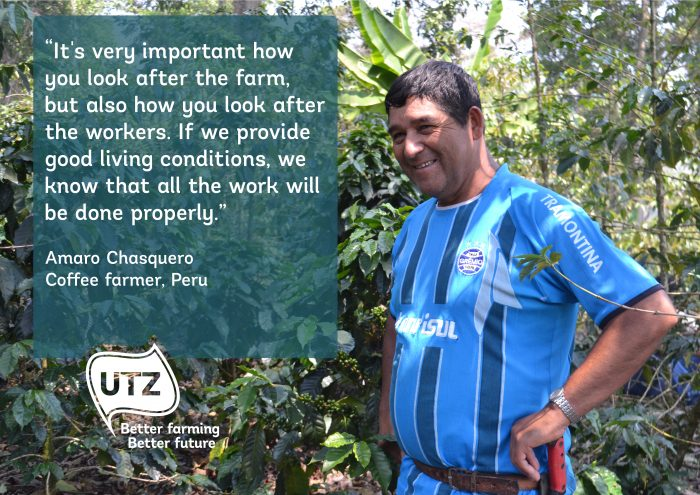 Quote from UTZ certified coffee farmer Amaro Chasquero from Peru