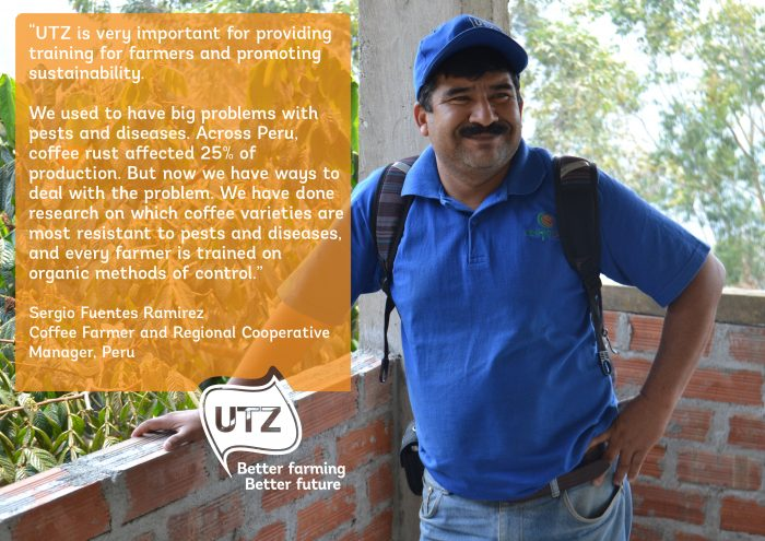 Quote from UTZ certified coffee farmer Sergio Fuentes Ramirez from Peru
